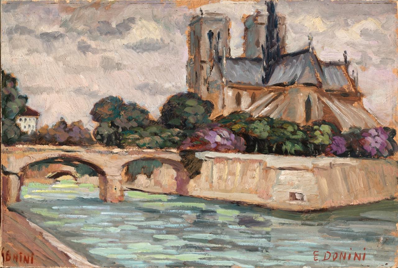 Notre Dame, 1961, 36x51 cm