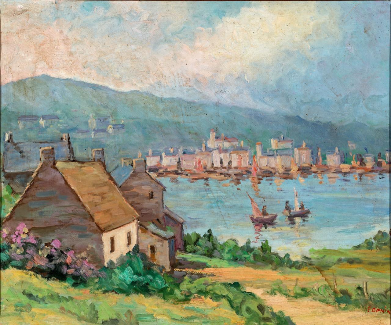 Golfo in Bretagna, anni '60, olio su tela, 54x73 cm