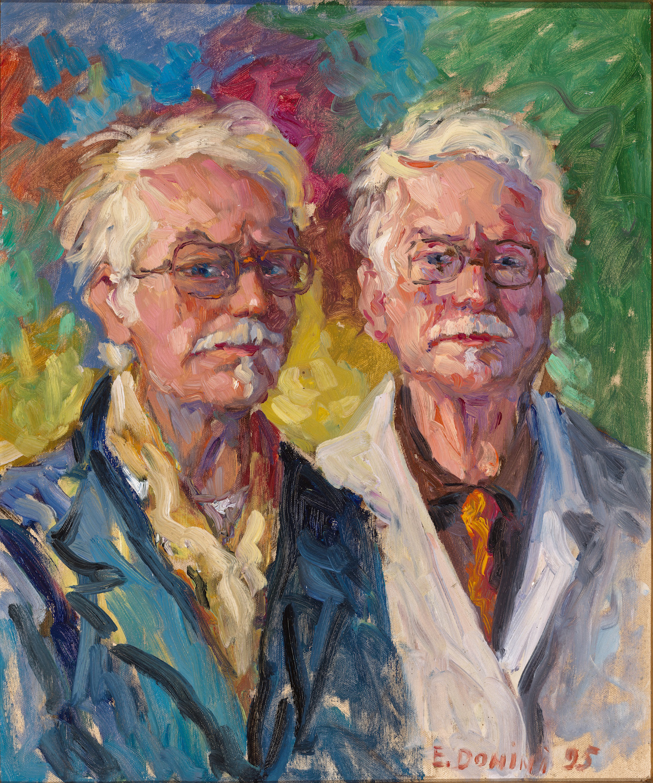 Doppio autoritratto, 1995, olio su tela, 60x50 cm
