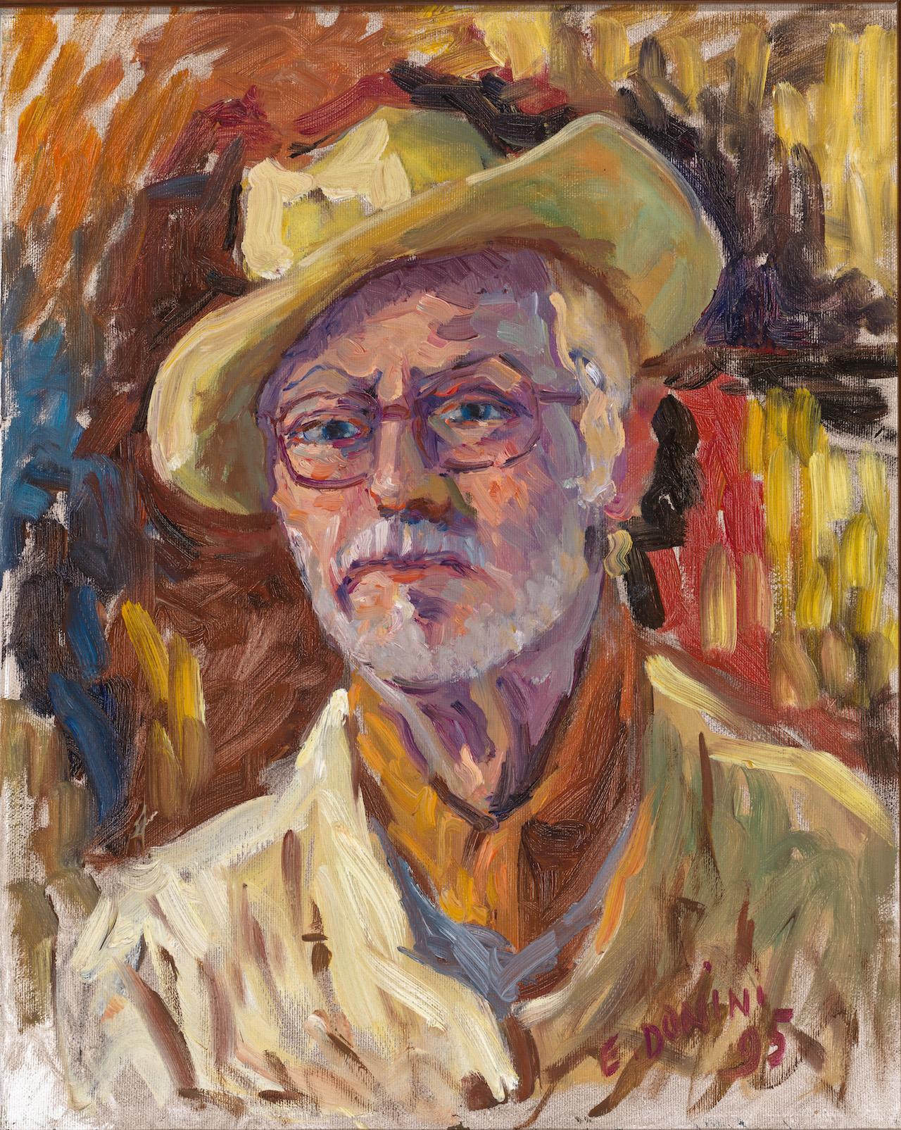 Autoritratto, 1995, olio su tela, 50x40 cm