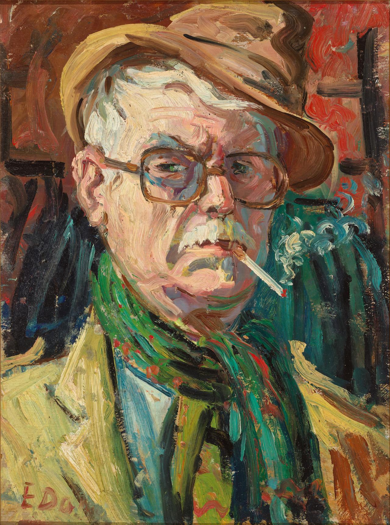 Autoritratto con sigaretta, 1981, 40x30 cm