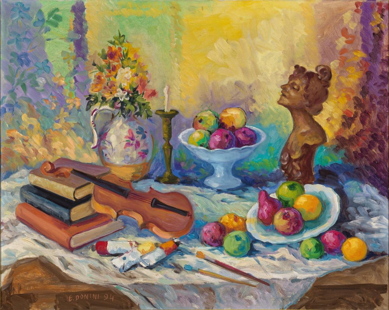 Quattro Muse, 1994, olio su tela, 80x100 cm