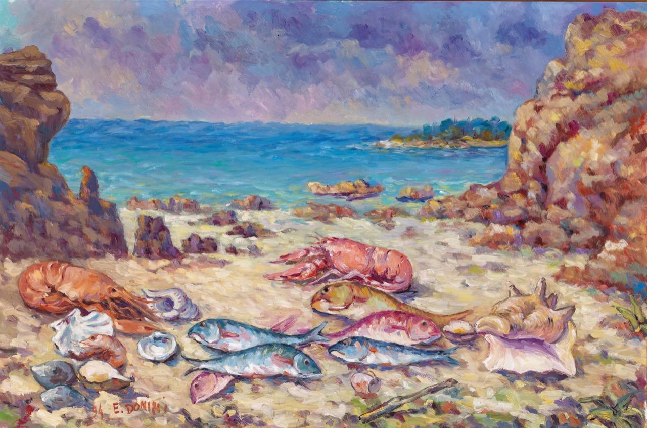 I frutti del mare, 1994, olio su tela, 80x120 cm