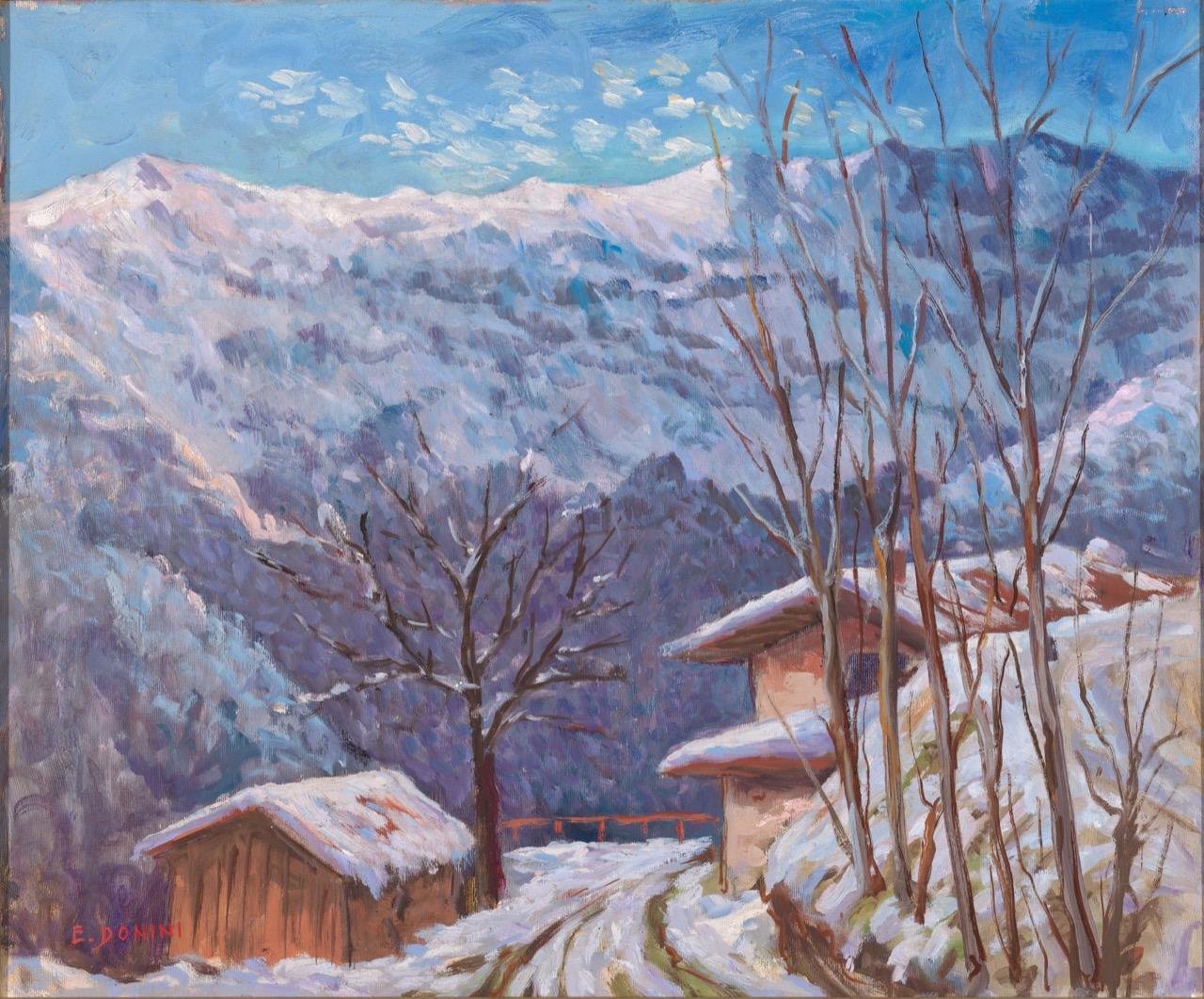 Pezzoro. Vicino al Monte Guglielmo, 1981, olio su tela, 50x60 cm